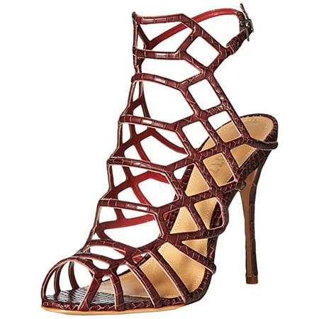 717eda05732 Schutz Juliana Red Wine Sexy Caged Stiletto Heels Dress Sandals (7.5)