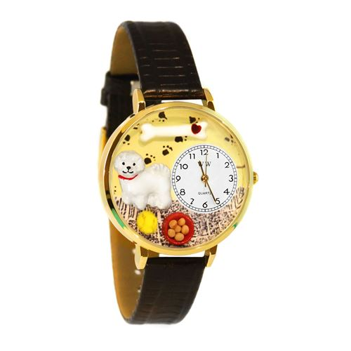 Whimsical Gifts Bichon Watch in Gold (Large) - image 1 of 1