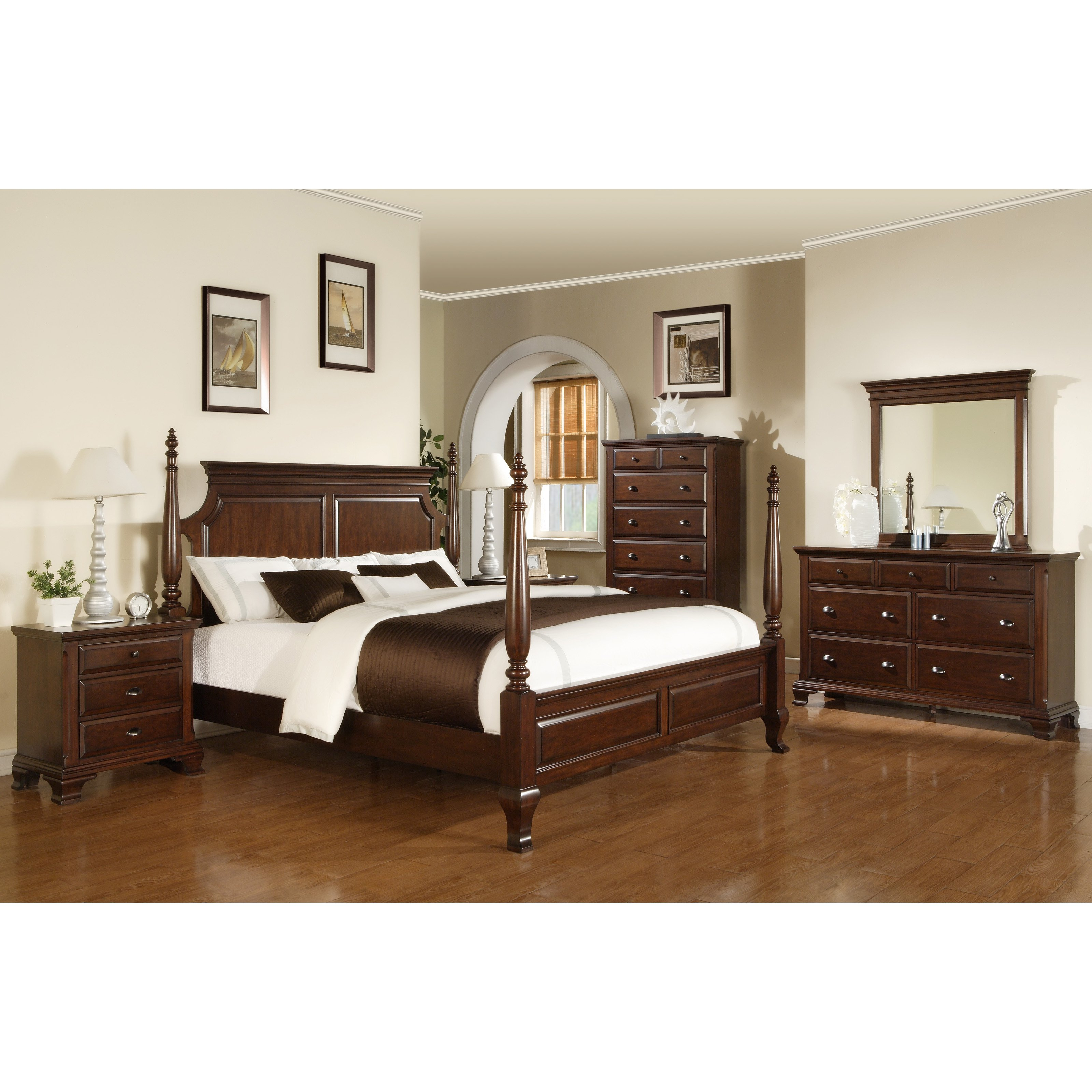 Sunset Trading Cambridge Poster Bed Set
