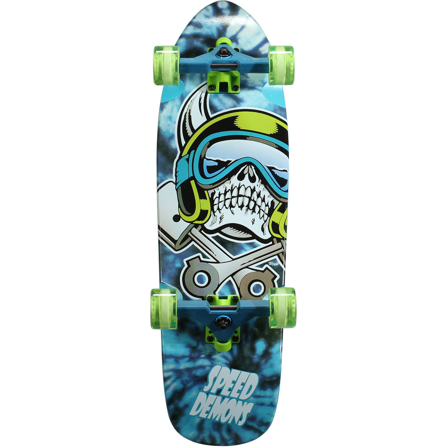 "Speed Demons Cruiser Board Complete Skateboard, 29"" x 9"""