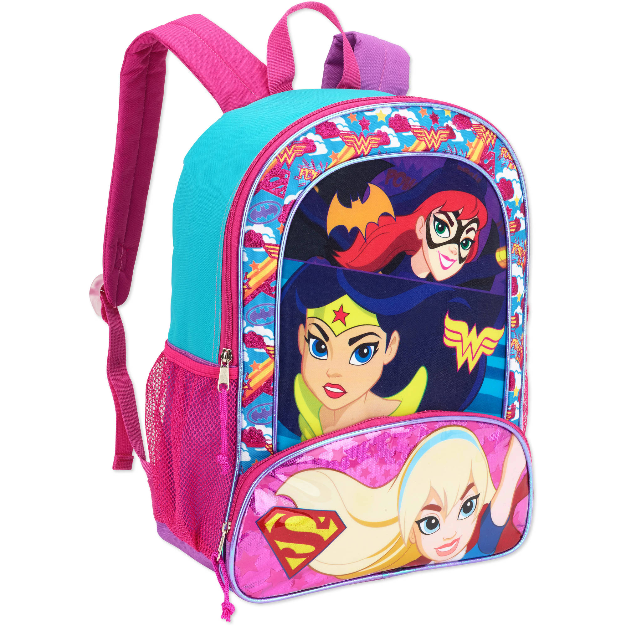"DC Super Girls Trio 16"" Full Size Backpack"