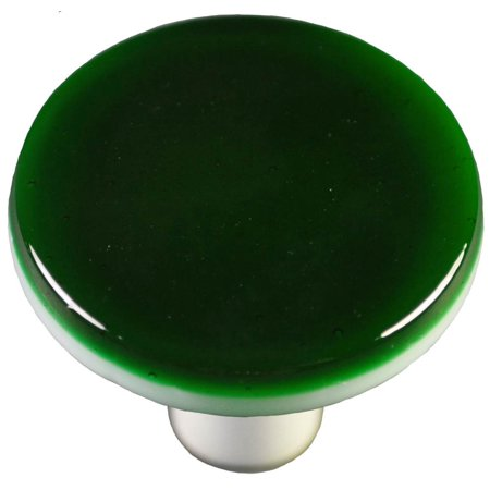 (Round Knob in Kelly Green (Aluminum))