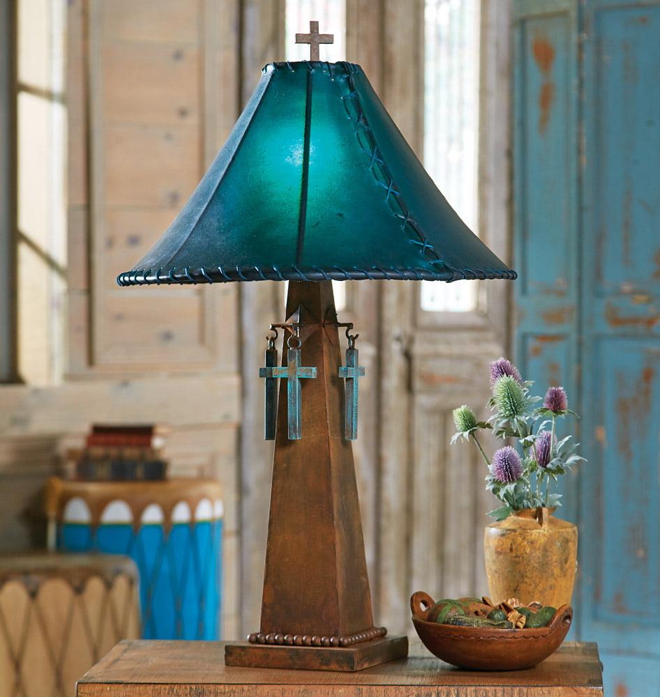 Santa cruz turquoise southwestern table lamp with rawhide shade santa cruz turquoise southwestern table lamp with rawhide shade western lighting walmart aloadofball Gallery