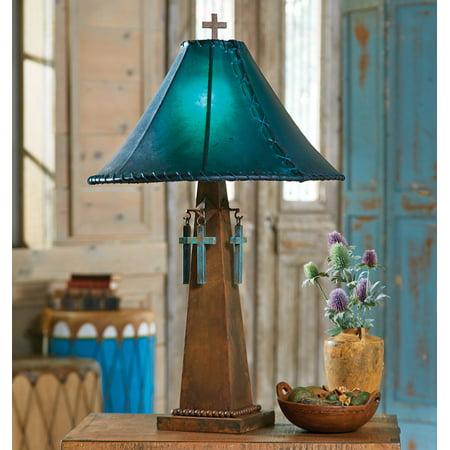 Santa cruz turquoise southwestern table lamp with rawhide shade santa cruz turquoise southwestern table lamp with rawhide shade western lighting aloadofball Choice Image