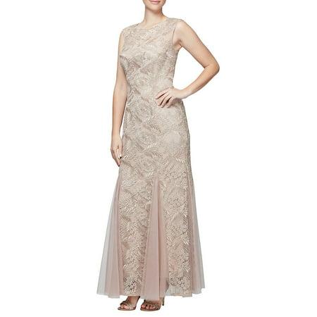 Alex Evenings Sleeveless - Embroidered Sleeveless Fit-&-Flare dress