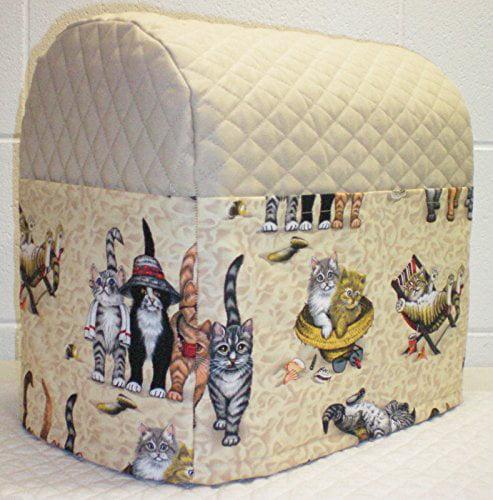 Beach Cats KitchenAid Artisan Mini 3.5-Qt Tilt-Head Mixer Cover (Tan)
