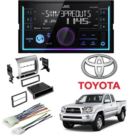 JVC KW-R930BTS 2-Din In-Dash Car Stereo CD Player w/Car Radio Stereo Single Double DIN Dash Kit Harness for 2005-2011 Toyota Tacoma ()