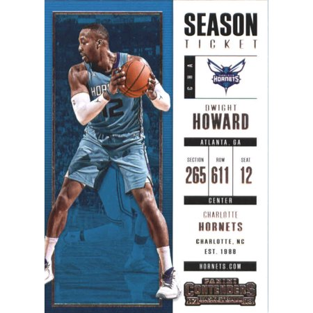 2017-18 Panini Contenders Season Ticket #53 Dwight Howard Charlotte Hornets Basketball Card