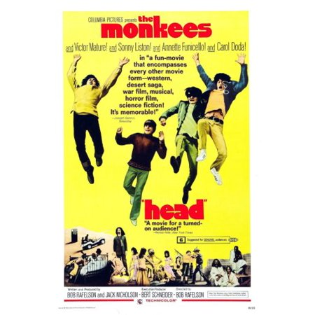 Head Poster The Monkees Poster Metal Sign 8inx 12in