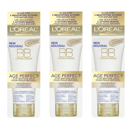 LOreal Paris Age Perfect BB Cream Instant Radiance, 2.5 Ounce - 3 Pack