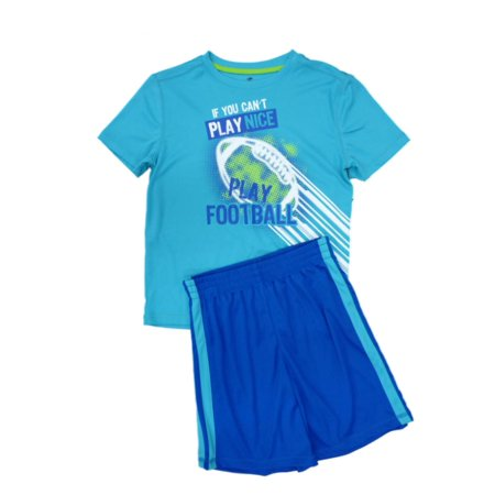Energy Zone Boys Play Football Athletic Shorts & Shirt 2 PC Activewear