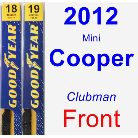 2012 mini cooper clubman wiper blade set kit front 2 blades premium. Black Bedroom Furniture Sets. Home Design Ideas
