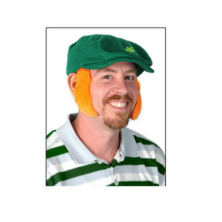 Pack of 12 St. Patrick's Orange Mutton Chop Sideburn Costume Accessories 4.5