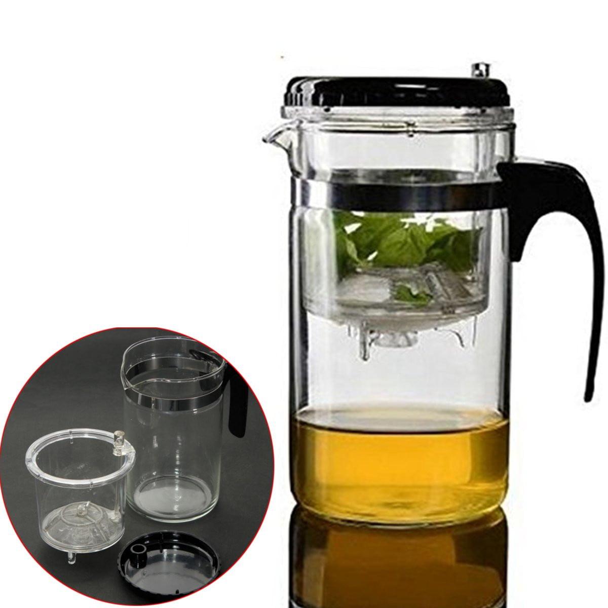 500ml Capacity Straight Glass Press Art Gongfu Tea Cup Mug Maker Teapot + Infuser Filter by