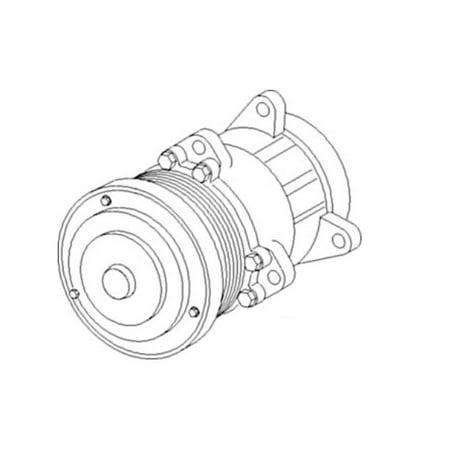 9824775 Ford / New Holland Compressor w/ Clutch 8670 8670A