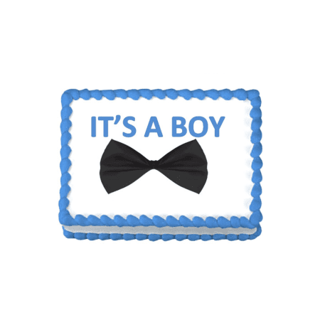 its a Boy Bow Tie Edible Frosting Sheet Photo Image Cake Topper](Bow Tie Cake)