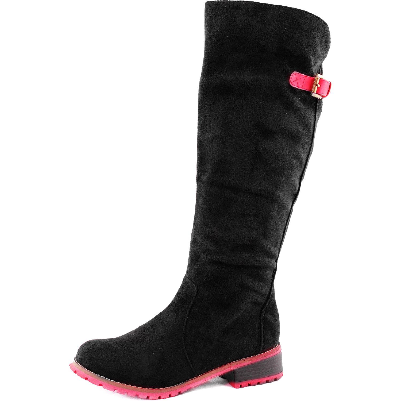Top Moda Le-15 Black Knee High Cowboy Riding Boots, Black...