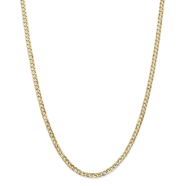 Lex & Lu 14k Yellow Gold 3.8mm Concave Curb Chain Necklace or Bracelet
