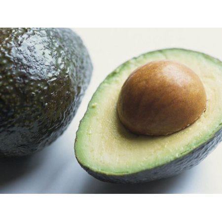 Close-Up of Half an Avocado Pear, with Stone Print Wall Art By Lee (Best Way To Store Avocado Half)