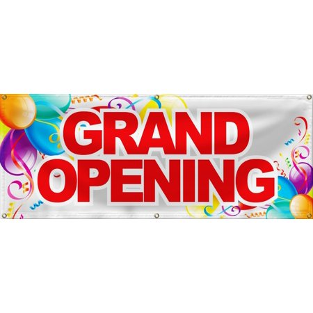 wall26 Grand Opening Banner Sign Store Signs Flag - -