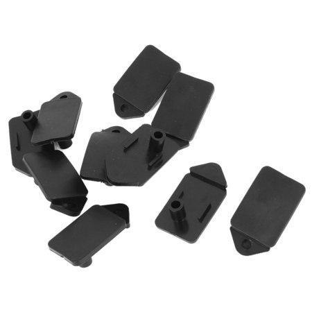 computer desk cable cord black rubber organizer hole cover 10pcs. Black Bedroom Furniture Sets. Home Design Ideas