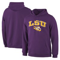LSU Tigers Fanatics Branded Primary Logo Campus Pullover Hoodie - Purple