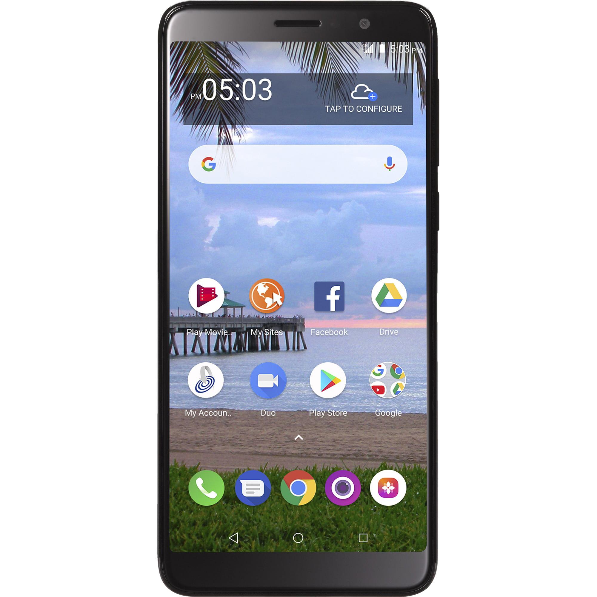 Straight Talk TCL A1X, 16GB Black - Prepaid Smartphone