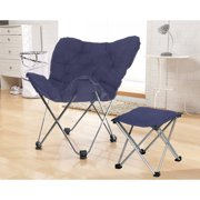 Your Zone Butterfly Chair W/ Footrest -