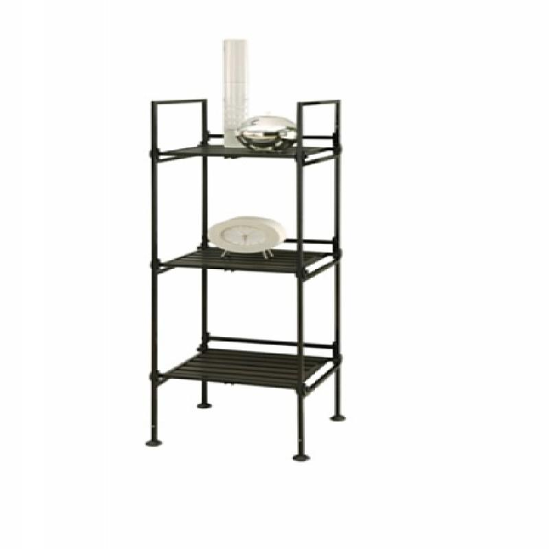 Neu HomeCare Organize It All Ebonize 3-Tier Square Shelf in Espresso