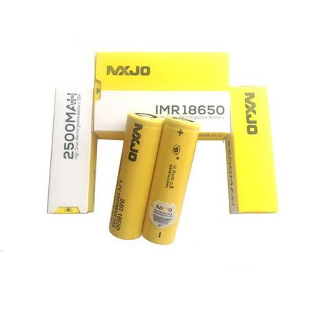 2 Authentic MXJO 2500mAh 18650 Flat Top Battery/ 35A 3.7V High Drain/ 2PCS New