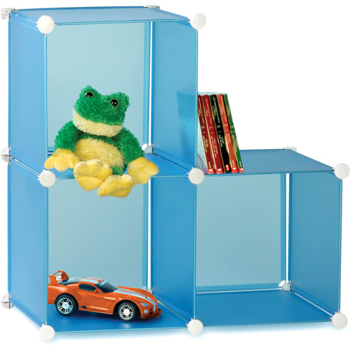 Honey Can Do Kids Storage Cubes with Steel Frame, Multicolor (Pack of 3)