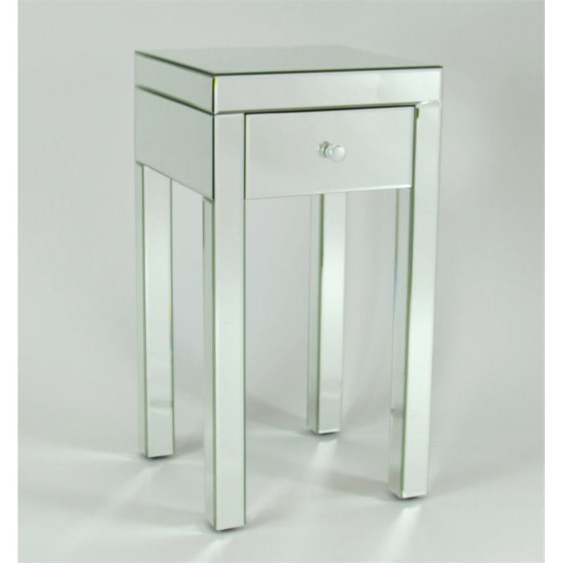 Wayborn Beveled Mirrored Plant Stand by Plant Stands