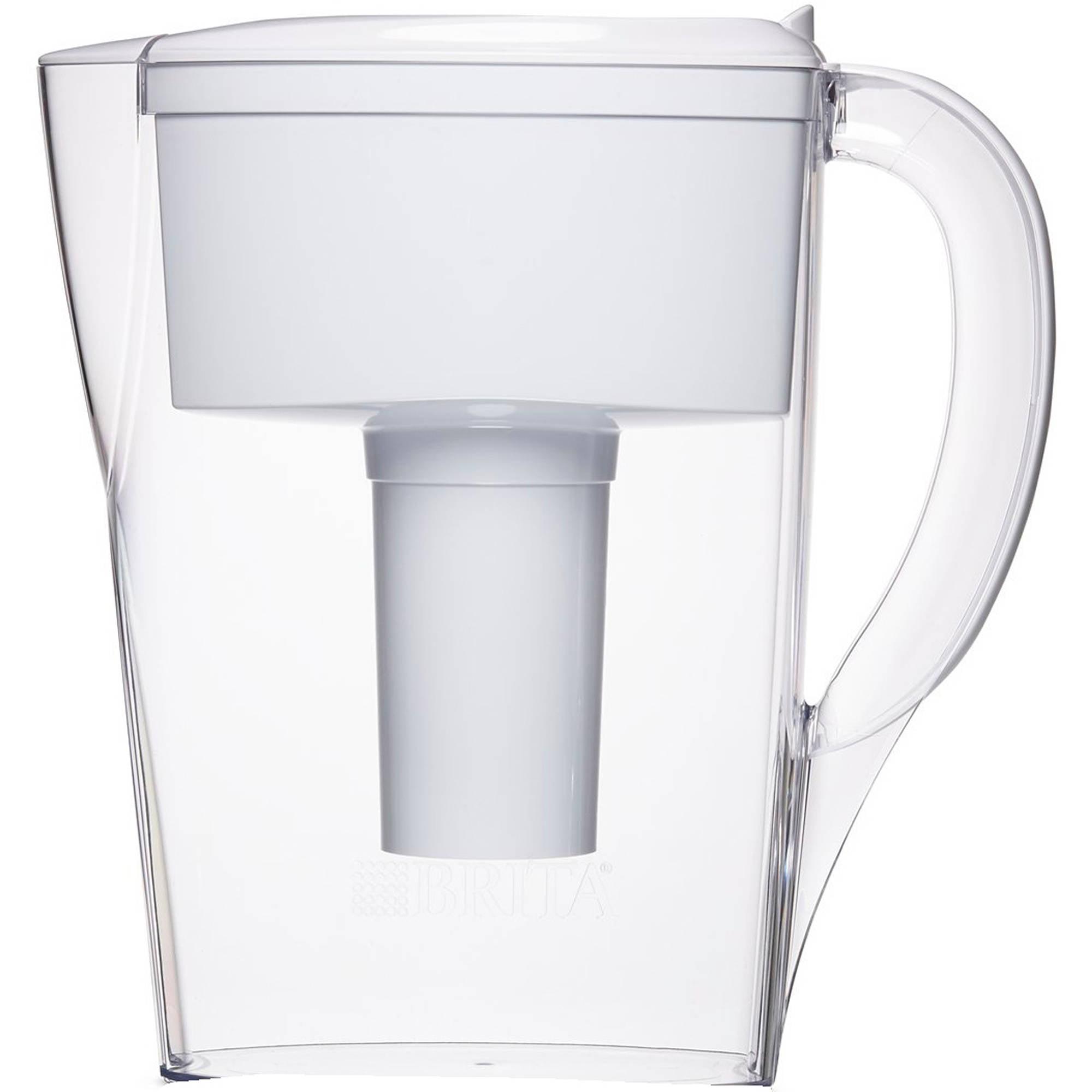Brita Space Saver Water Filter Pitcher, White, 6 Cup