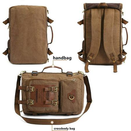 Meigar Men Retro Canvas Shoulder Bag Travel Tactical Backpack - image 7 de 9