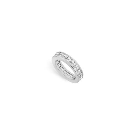 Three and Half Carat Cubic Zirconia Eternity Band in Sterling Silver Third Wedding Anniversary J - image 2 of 2