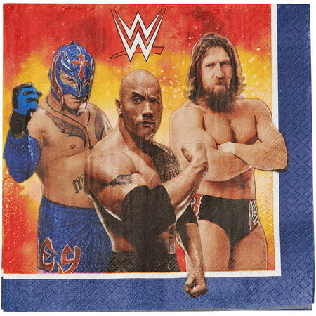 WWE Party Paper Lunch Napkins, 16ct for $<!---->