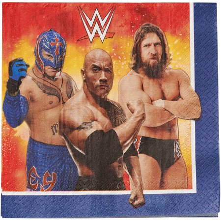 WWE Party Paper Lunch Napkins, - Wwe Birthday Theme