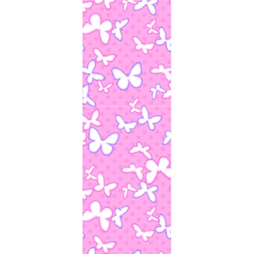 """Butterfly Flannel Fabric, Pink, 23.5"""" x 9"""""""