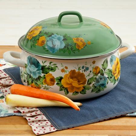 - The Pioneer Woman Enamel 4 Quart Rose Shadow Dutch Oven