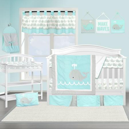 Pam Grace Creations Nautical Whale 13 Piece Crib Bedding Set (Crib Bedding Set Blue)