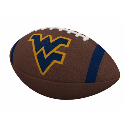 West Virginia Mountaineers Team Stripe Official-Size Composite Football