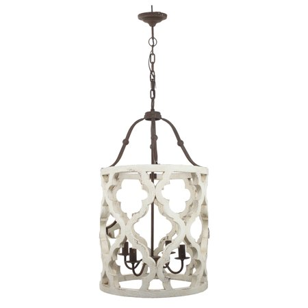 (A&B Home Jolette 4-Light Chandelier, Wood)