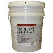 True Value Mfg Company VF11-5G Painters Select Base 5 Gallon White Interior Flat Latex Wall Paint