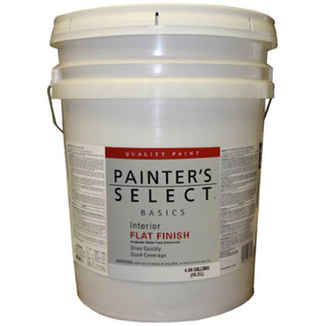 True Value Mfg Company VF11-5G Painters Select Base 5 Gallon White Interior Flat Latex Wall Paint