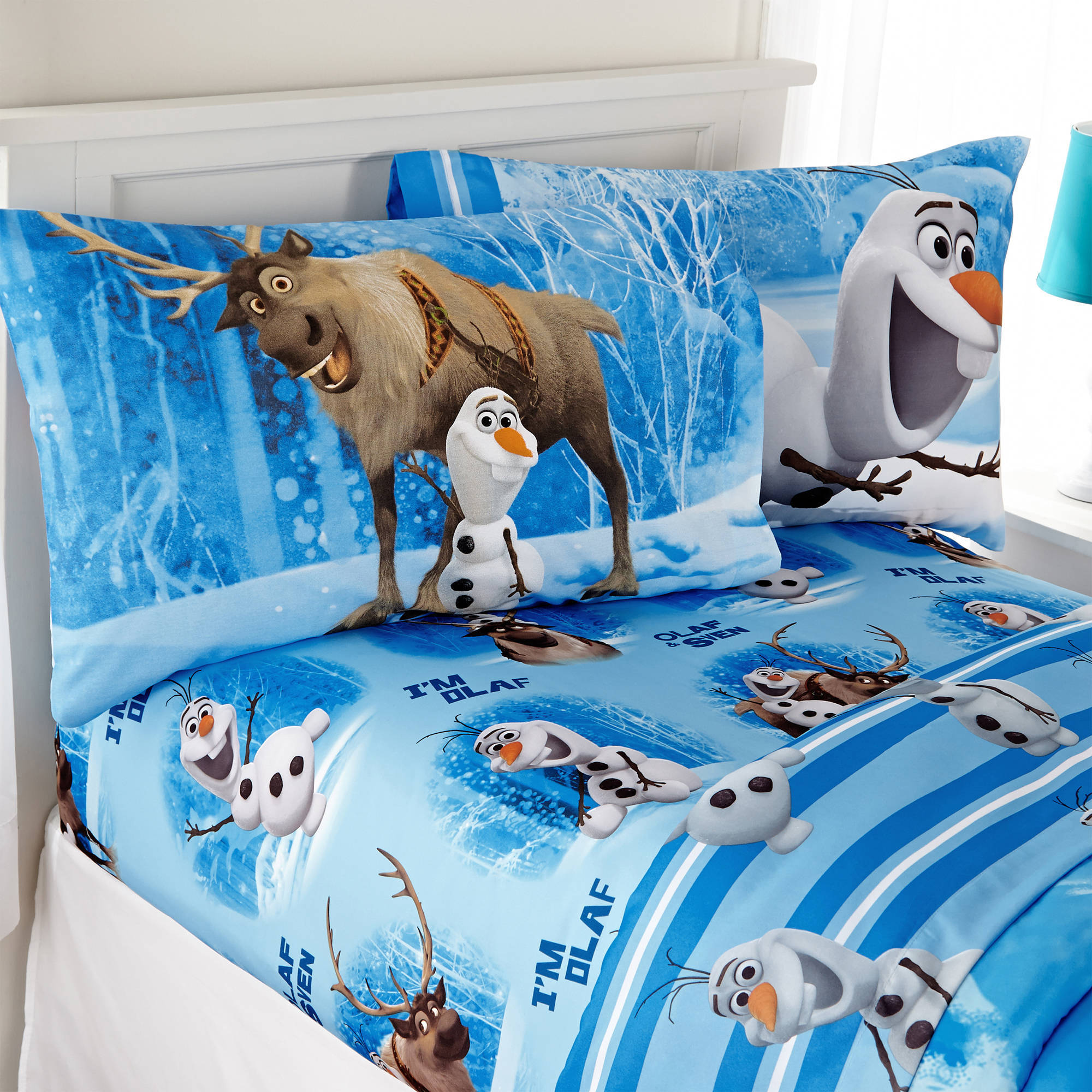 "Disney Frozen Olaf ""Made from Snow"" Bedding Sheet Set"