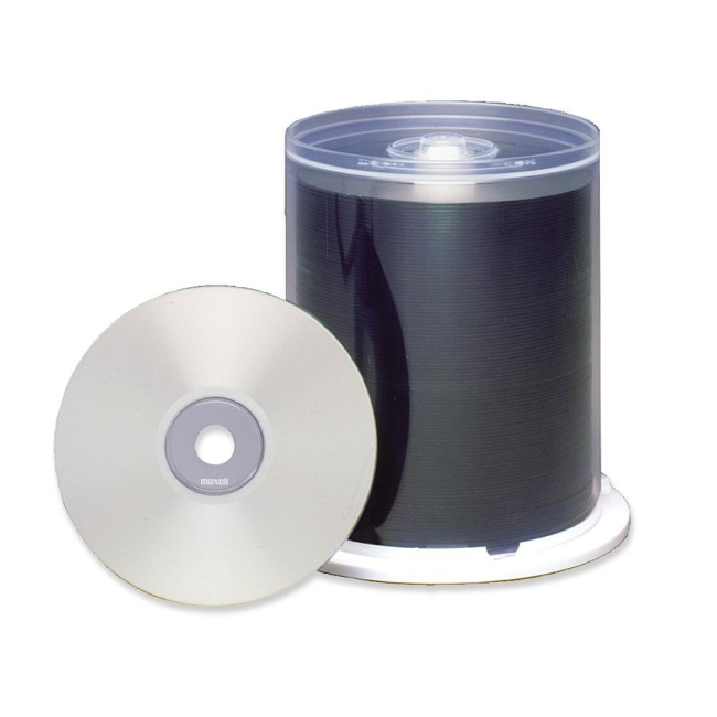 Maxell CD Recordable Media CD-R 48x 700 MB 100 Pack Spindle Bulk 120mm Printable 1.33 Hour Maximum Recor by Maxell