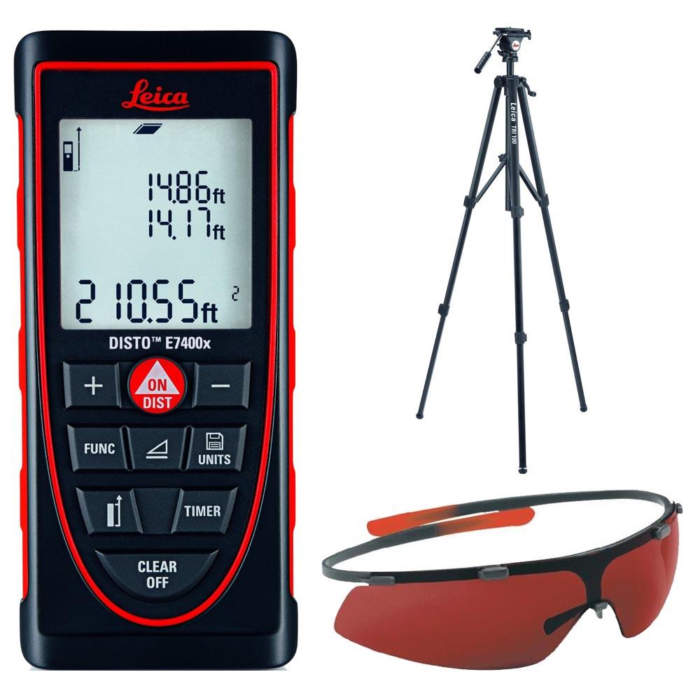 Leica DISTO E7300 Laser Distance Meter With TRI100 Tripod & GLB30 Glasses