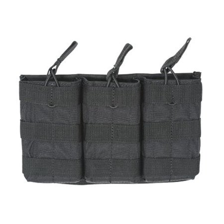 Voodoo Tactical MOLLE Compatible Triple Open Top Rifle Magazine Pouch