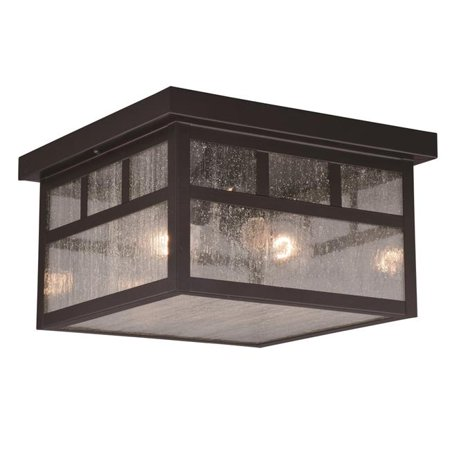Vaxcel International T0440 11.5 in. Mission Outdoor Flush Mount in Oil Burnished Bronze - image 1 of 1
