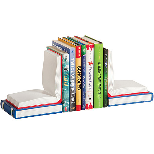 Guidecraft Open Book Bookends, Red/Blue